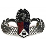 China Republic Special Forces White Metal Breast Badge